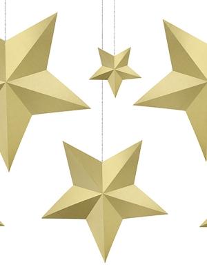 6 gab, Papīra zvaigznes, zelta