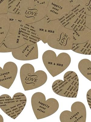 Konfeti sirdis, kraft papīrs, 3 gr