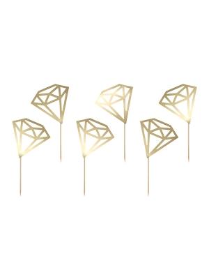 6 gab, Iesmiņi Dimanti, zelta, 9.5 cm
