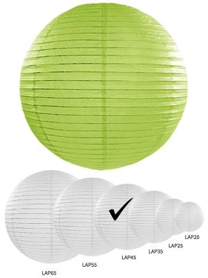 Papīra laterna, ābolu zaļa, 45 cm