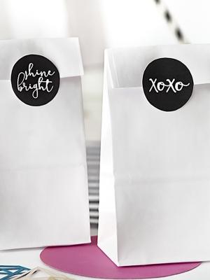 6 gab, Papīra maisiņi, balti, 8 x 18 x 6 cm
