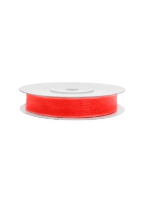 Šifona lente, neona sarkan-oranža, 6 mm x 25 m