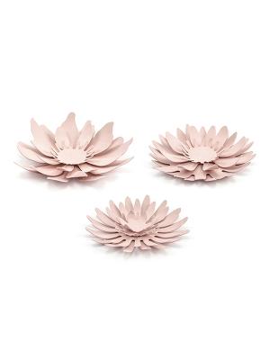 3 gab, Papīra dekorācija Zieds, gaiši rozā, 7.5 - 8.5 cm