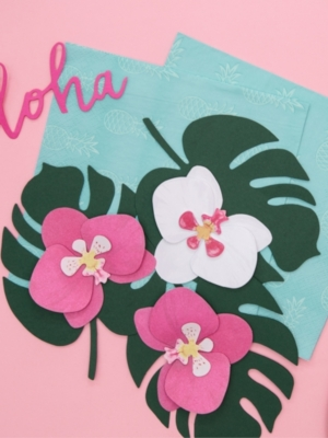 6 gab, Papīra dekorācija Orhideja
