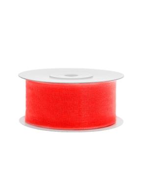 Šifona lente, neona sarkanoranža, 38 mm x 25 m