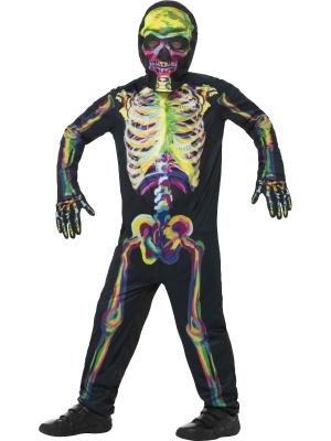 Skeleta kostīms, spīd tumsā