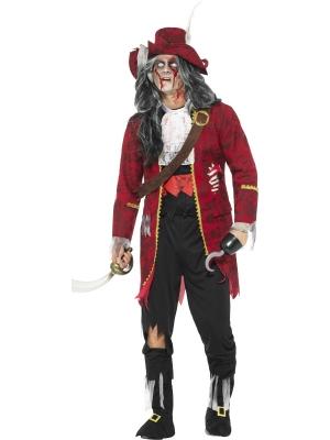 Zombija pirātu kapteiņa kostīms