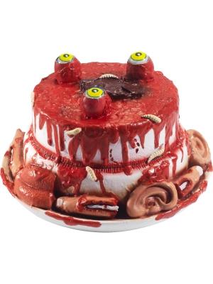Zombija torte ar kustīgām acīm, 25 x 25 x 14 cm