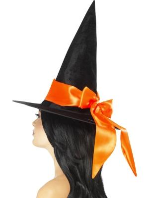 Raganas cepure ar oranžu banti