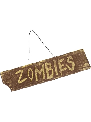 Zombija zīme, 40 cm x 10 cm