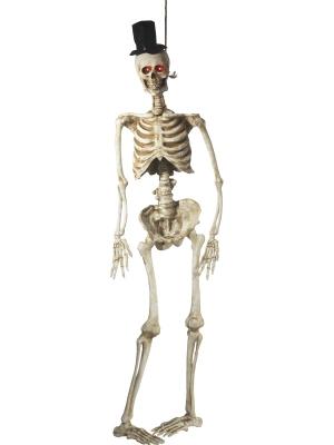 Skeleta līgavaiņa dekorācija, mirgo acis, 170 cm