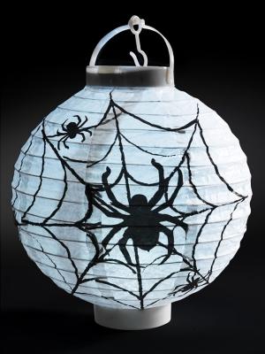 Spīdoša LED papīra zirnekļu tīkla laterna, 20 x 7 x 22 cm