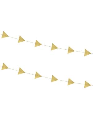 2 gab, Virtene Trijstūri, zelta, 180 cm