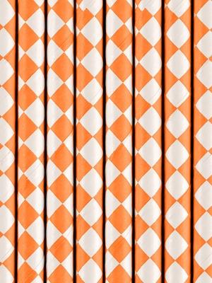 10 gab, Salmiņi, oranži rombi, 19.5 cm