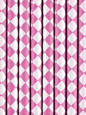 10 gab, Salmiņi, rozā rombi, 19.5 cm