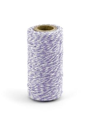 Krāsaina aukla, baltā ar violetu, 50 m