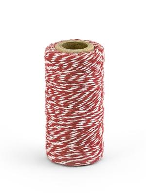 Krāsaina aukla, baltā ar sarkanu, 50 m
