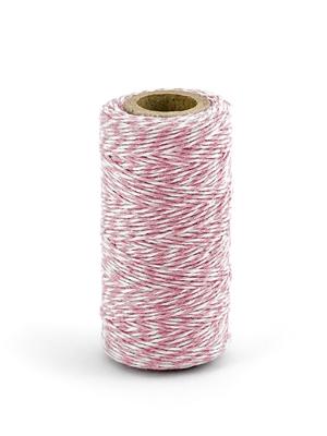 Krāsaina aukla, baltā ar rozā, 50 m
