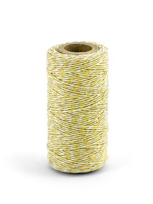 Krāsaina aukla, baltā ar dzelteno, 50 m