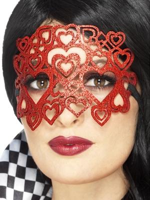 Gliteru sirds acu maska