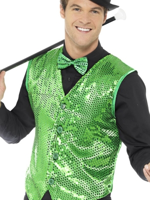 Vizuļojoša veste, zaļa