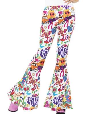 Kļoša bikses, daudzkrāsainas