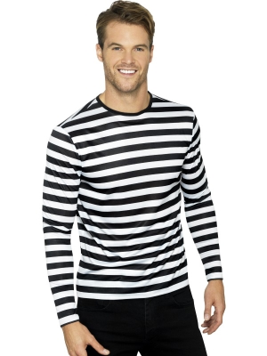Strīpains krekls, melns