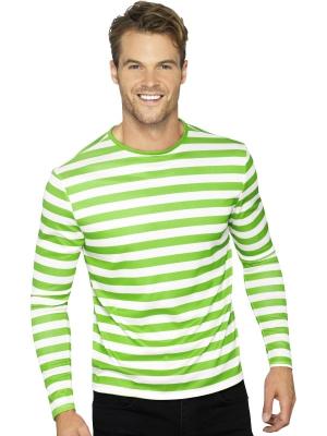 Strīpains krekls, zaļš