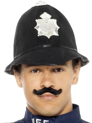 Policista cepure, melna