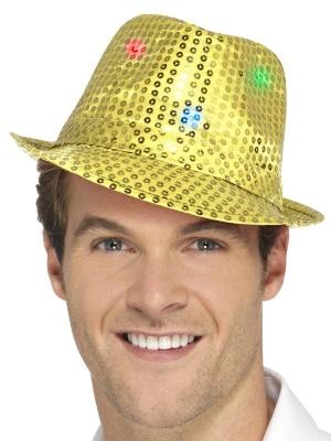 LED Vizuļojoša cepure, zelta