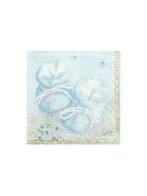 20 gab, Salvetes Kurpītes, zilas, 33 x 33 cm