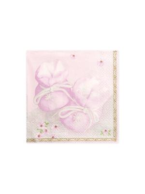 20 gab, Salvetes Kurpītes, rozā, 33 x 33 cm