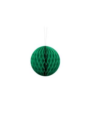 Papīra bumba, smaragdzaļa, 10 cm