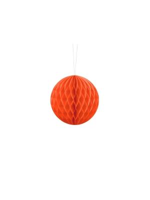 Papīra bumba, oranža, 10 cm