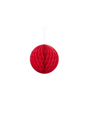 Papīra bumba, sarkana, 10 cm
