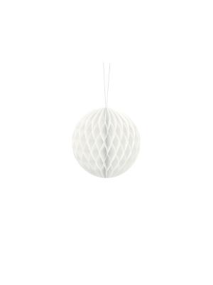 Papīra bumba, balta, 10 cm
