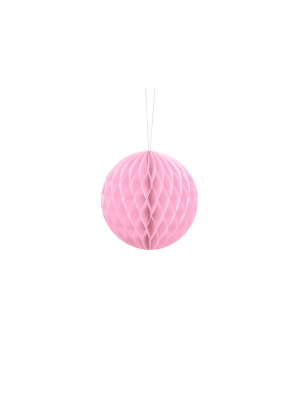 Papīra bumba, gaiši rozā, 10 cm
