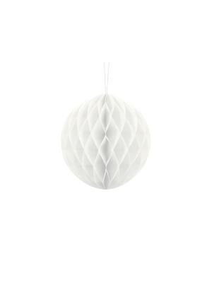 Papīra bumba, balta, 20 cm
