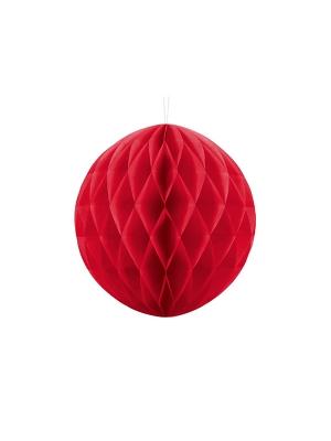 Papīra bumba, sarkana, 30 cm