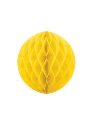 Papīra bumba, dzeltena, 40 cm