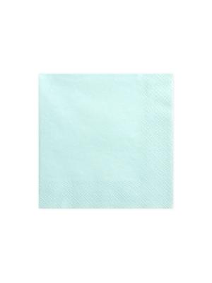 20 gab. Salvetes, gaiša tirkīza 33x33  cm