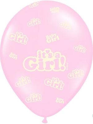 Balons It`s a Girl!, gaiši rozā, 30 cm