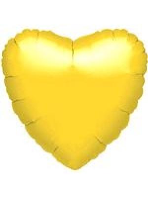 Metāliski dzeltena Sirds, 45 cm