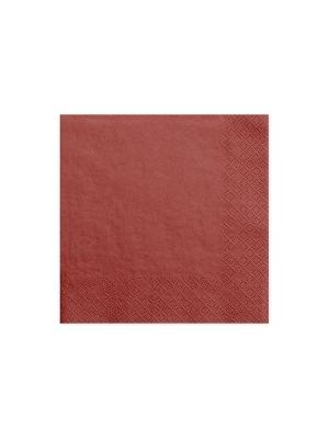 20 gab, Salvetes, sarkanas,  33 x 33 cm