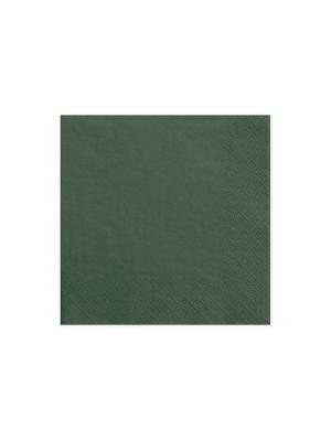 20 gab, Salvetes, zaļās pud.krāsā, 33 cm x 33 cm