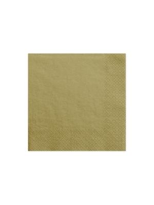 20 gab, Salvetes, zelta, 33 x 33 cm