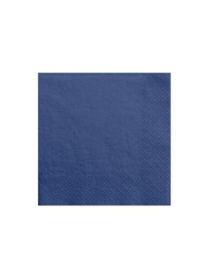20 gab, Salvetes, tumši zilas, 33 cm x 33 cm