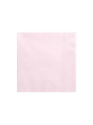 20 gab, Salvetes, gaiša pūdera rozā 33x33 cm