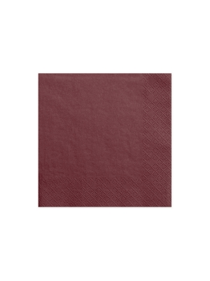 20 gab, Salvetes, tumši sarkanas,  33x33  cm