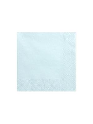20 gab, Salvetes, gaiši debesu zilas, 33 cm x 33 cm